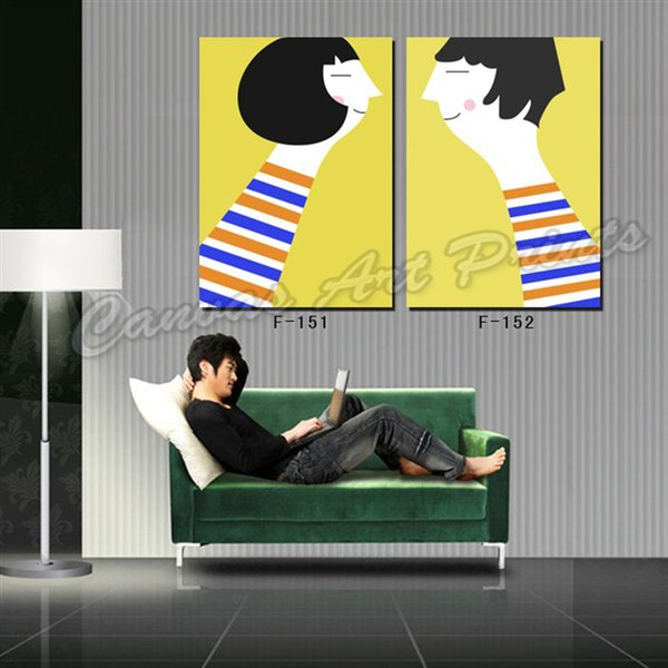 Cheap Modern Paintings Framed Home Decor Canvas Pictures of Lover Art Panel Digital Printing Photo Decorative Painting for Bedroom