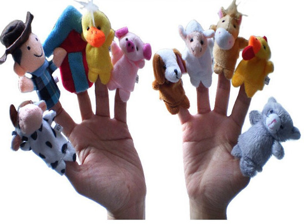 """best selling Kids toys Velvet Animal Finger Puppets Story Telling """"Old Macdonald Had a Farm"""" Finger Puppets Nursery Rhyme Toys"""