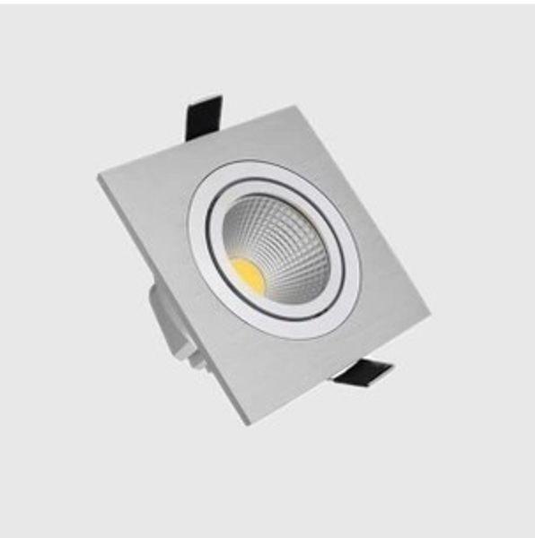 Freies Verschiffen 3W COB White Square LED Deckenleuchte, High Power LED COB Square Downlight Deckenleuchte