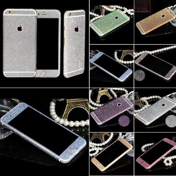 Full Body Shiny Glitter Bling Diamond Film Matte Skin Protector for iPhone5S 6S 6S plus Phone Sticker Matte Screen Protector