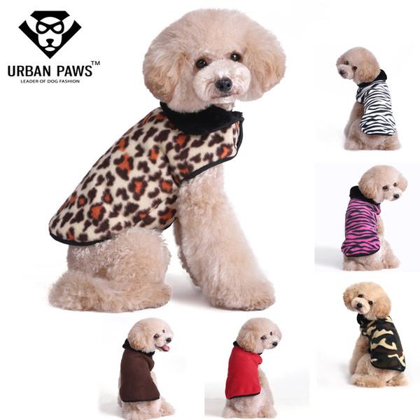 448e6c0561e3 URBAN PAWS 6 Colors Super Warm Fleece Dog Clothes Designer Dog clothing  with Winter Dog Jackets