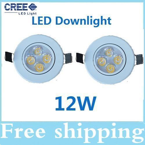 High Power 12W led ceiling lights Warm/Pure/cool white led downlights bulb lamps CE ROHS