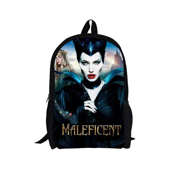 2014 Fashion Maleficent Doll Backpack For Boys Children Cartoon School Backpacks Men Cute Princess Aurora Women Backpack Girls Rolling Backpacks