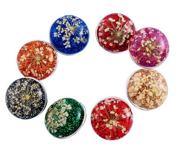 NOOSA personality 18mm glass noosa Interchangeable Snap Buttons DIY Jewelry Accessory Ginger Snap Jewelry 8 colors