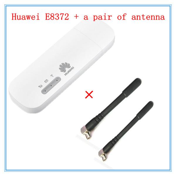 best selling Freeshipping Unlocked E8372 ( plus a pair of antenna) LTE USB Wingle LTE Universal 4G USB WiFi Modem car wifi E8372h-608 E8372h-153