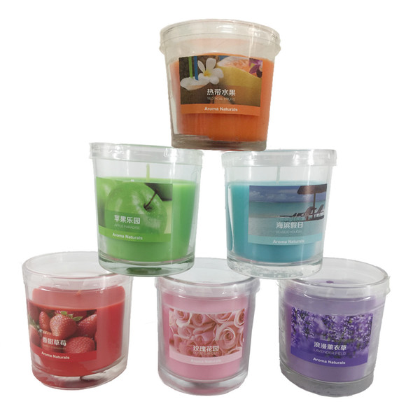 top popular 25 Hours Scented Candles Glass Cup Conicle Candle With A Variety Of Fragrance Aroma Paraffin Wax Aromatherapy Candles Product Code :75-1013 2021