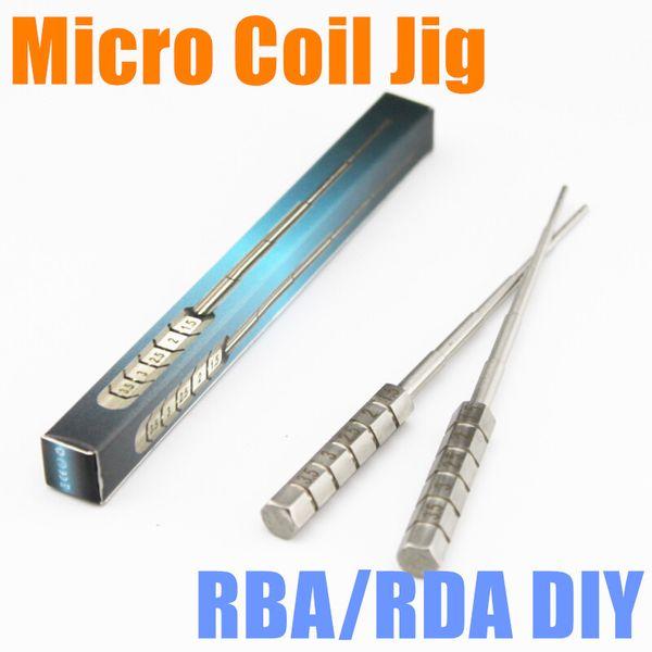 Edelstahl Stahl Micro Coil Jig Coiler für Zerstäuber Mods Micro Coil Builder Werkzeug Micro RBA RDA Wickelspule Jig Tropfspitze DIY Hand Micro Coil