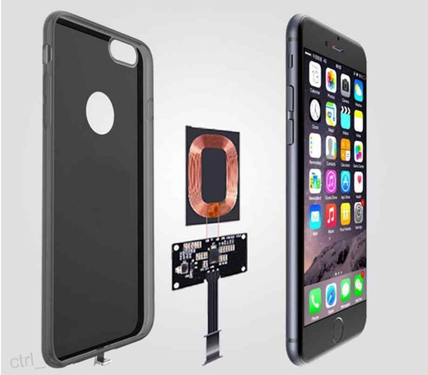 Qi Wireless Charger Receiver Case Cover Power Charging Transmitter For iPhone 6 6s plus with retail