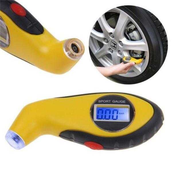 자동 자동차 오토바이를위한 새로운 타이어 압력 게이지 타이어 휠 에어 테스터 휴대용 LCD 디지털 진단 수리 도구