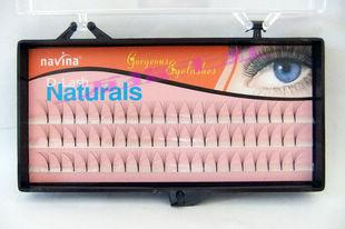 Navina False Eyelashes Eyes Makeup 8mm 10mm 12mm Individual Lashes Eyelash Extension Gorgeous Eyelashes Handmade Fake Eyelash Free Ship DHL