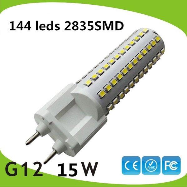 Free shipping 10pcs/lot 10W 15w G12 led corn light SMD2835 led G12 bulb PL light replace 35w 50W Metal halide lamp AC85-265V
