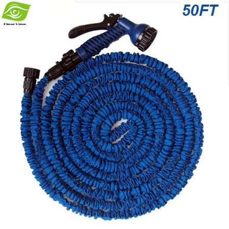 top popular 2014 Hot Selling 50FT Magic Hose With Spray Gun Expandable Flexible Water Pipe Garden Irrigation Hose Car USA And EU Stantard,dandys 2021
