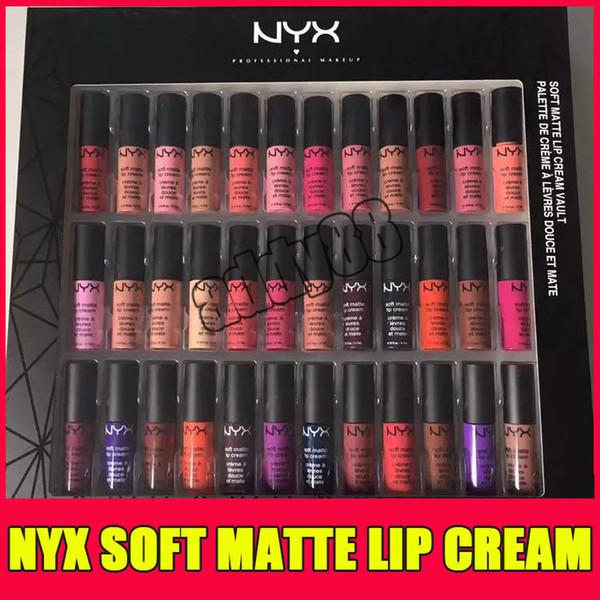 Nyx oft matte lip cream nyx 36pc et lip tick lip glo matte no fading ofe velvet lip makeup 36 color et