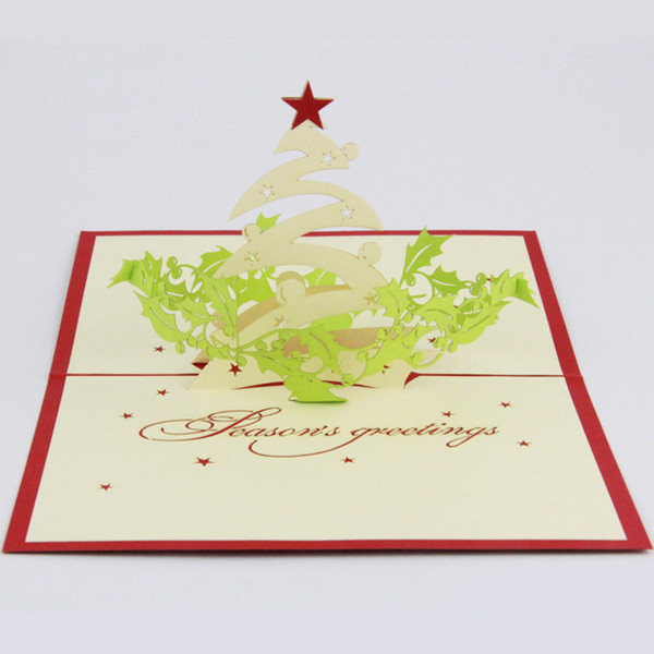 Ideas For Christmas Cards Handmade.Qubiclife Christmas Greeting 3d Stereo Christmas Card Ideas Handmade Cards 2015 3d Handmade Card 3d Pop Up Gift Greeting 3d Blessing Cards P Birthday