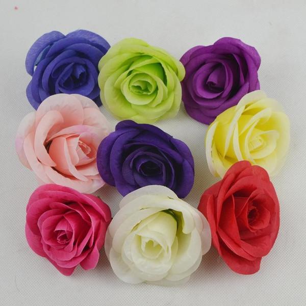8CM Artificial rose Flower Heads Camellia Rose Peony Flower Head For Wedding Decoration Arch Flower Arrangement DIY Material Supplies
