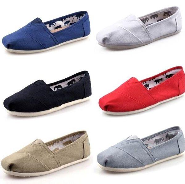 Dorp Versand 2015 Großhandel neue Marke Frauen und Männer Mode Turnschuhe Segeltuchschuhe Müßiggänger Wohnungen Espadrilles Schuhe Größe 35-45