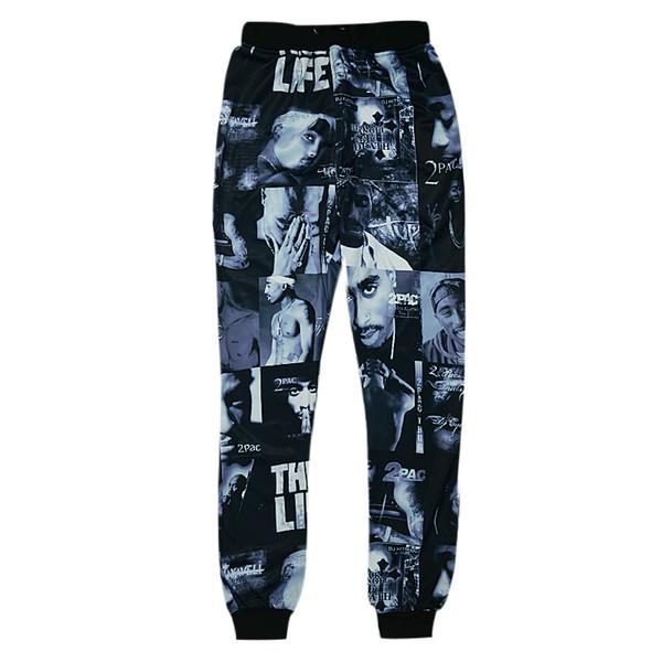 Wholesale-Raisevern new tupac 2pac 3D joggers trousers 3d print hip hop star Tupac THUG LIFE pants harajuku running sportswear sweatpants