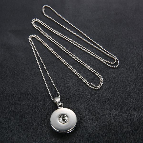 бесплатная shippinoosa ожерелье кусок очарование Snap Button Nosa кулон ожерелья женщины DIY long Press бисера цепи ожерелье заявление ювелирные изделия