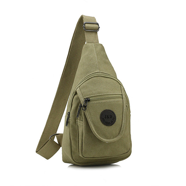 1PC New Style Men Casual Canvas Chest Bag Single Shoulder Unbalanced Sling Pack Crossbody Backpack High Quality Male Bag