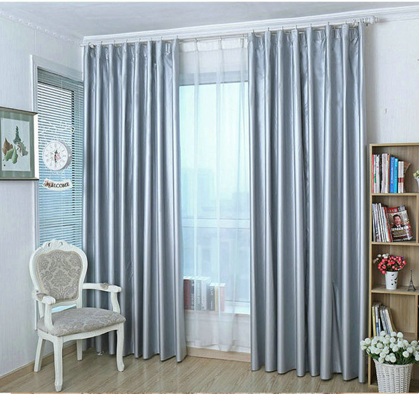 best selling On sale! 100% Blackout curtain double sides silvery coated eco-friendly heat insulation anti-UV waterproof curtains for summer Ready made