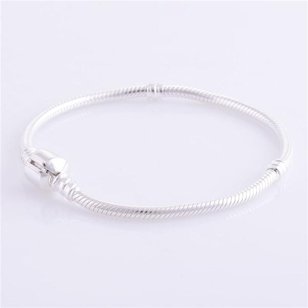 Женщина s925 Эль стерлингового серебра змея браслет DIY ювелирных изделий европейских подвески бусины браслеты браслеты браслет ювелирных изделий