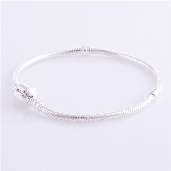 Woman s925 ALE Sterling Silver Snake Bracelet DIY Jewelry Findings European Charms Beads Bracelets & Bangle jewelry Making