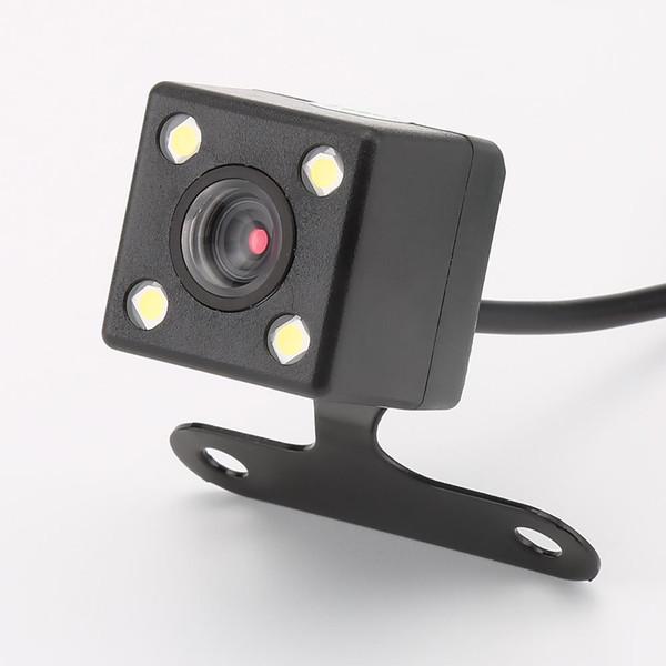 GPS 4 Lâmpadas Led Câmera Reversa Visão Noturna HD CDD Retrovisor Camara Lens 2.5mm Jack com 6 Metros de Cabo para Gravadores de Espelho Dvr Carro