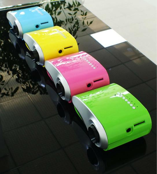 Billig Mini Projektor Pico Projektor Für Heimkino Bildung 480 * 320 Handy Tablet PC Fahrzeug Video Kinder Geschenk