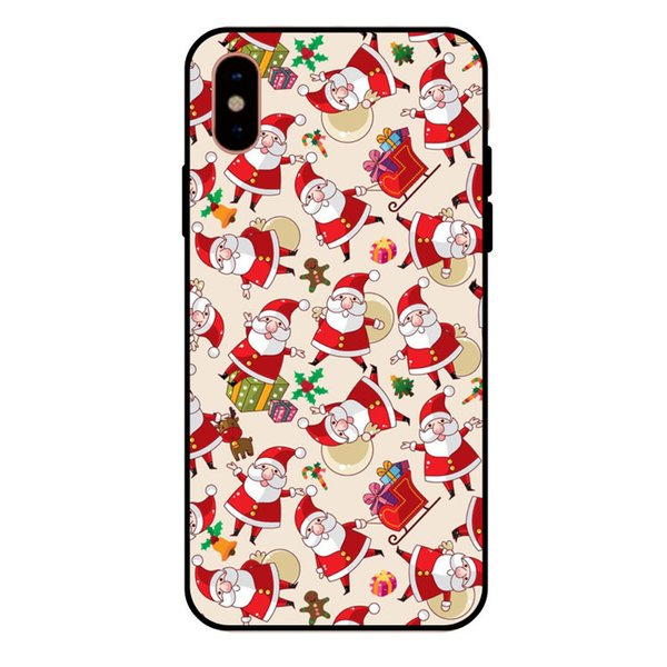 Christmas Iphone X Case.For Apple Iphone X Case Iphone 8 7 Plus Iphone 6s Tpu Box Personality Merry Christmas Gift Cell Phone Protective Cases Cell Phone Case Mobile Phone