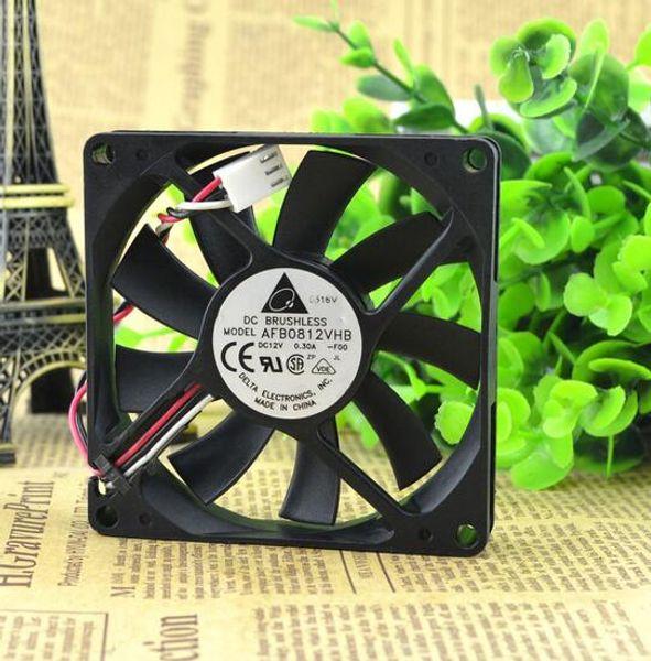 Wholesale: original genuine Delta 8015 0.30A 8CM 12V AFB0812VHB 3 line CPU double ball cooling fan