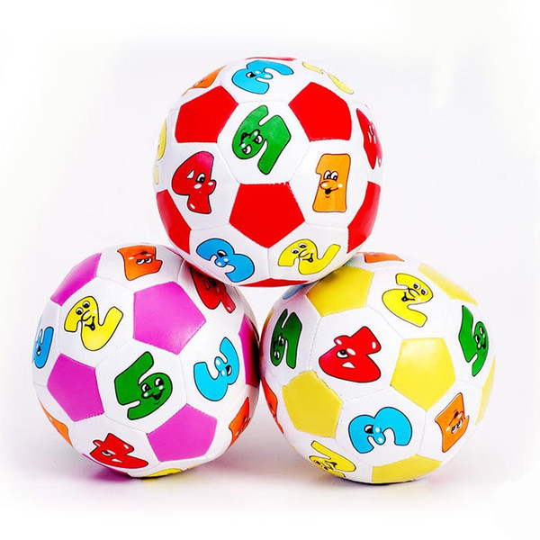 Colorful Baby Digital Football Math Counting Time Bell Ring Pre-school Kids Ball Toys Educational Children Learning Toys 12pcs/lot SD363