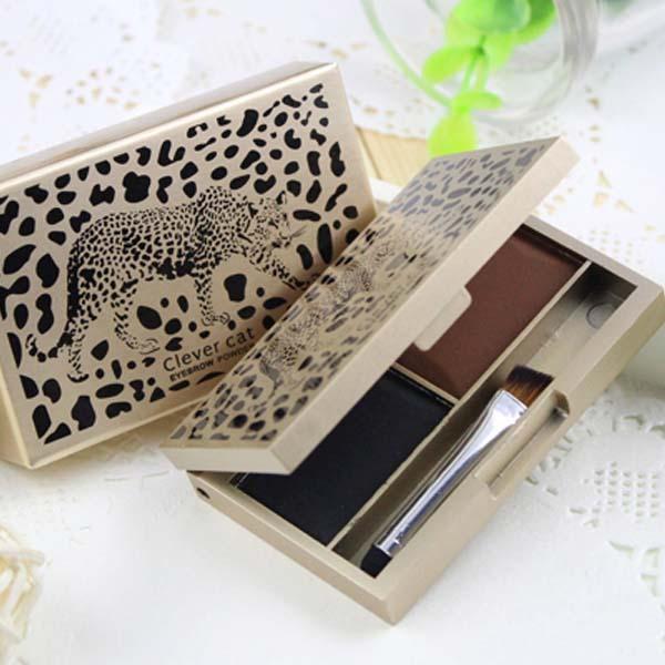 Verfassungs-kosmetische glänzende Lidschattenaugenbrauen-Augenbrauen-Pulver-Palette 6G 2 Schatten