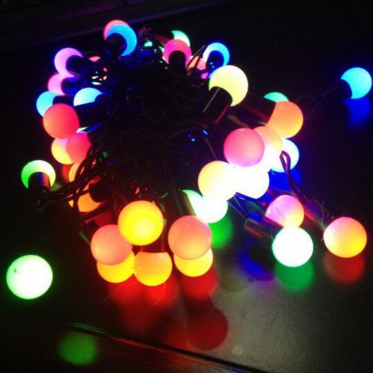 Warm White colorful LED Bulb Icicle String Fairy Lights Wedding Xmas Party Decoration PC 100 LEDS LED String Lights 10M 110V 220V