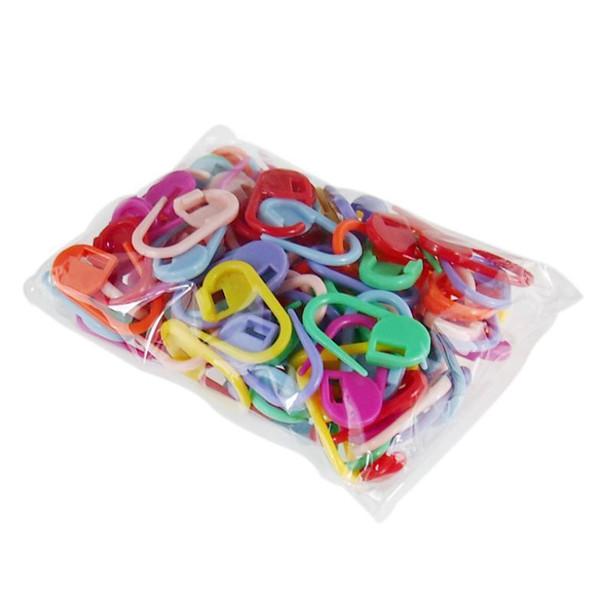 50 stücke Kunststoff Marker Halter Nadel Clip Craft 50 stücke Mix Mini Stricken Häkeln Sperren Stich Neu