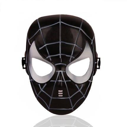 1 piece Halloween Hoilday Cosplay Mask black color Spider Man Mask With Led light Children Festival Luminous mask for Masquerade Party