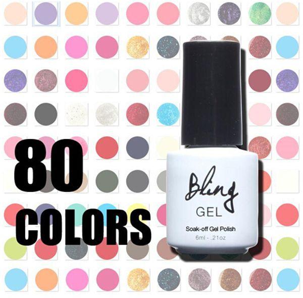Nail Gel Polish UV Led Brillante Colorido 80 Colores 6ml Long Lasting Soak off Varnish Manicur Barato