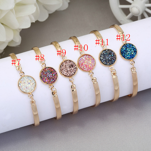 Luxury Women Bracelets Charm Crystal Gold Color Stainless Steel Bangle Rose gold Cuff crystal Bracelets for Women Gift