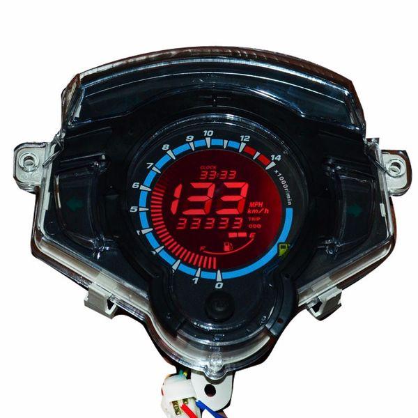 7 color Screen Motorcycle Speedometer 12V 50W LCD Digital Motorbike Odometer Tachometer Ajustable Fit Most Motor TYB009
