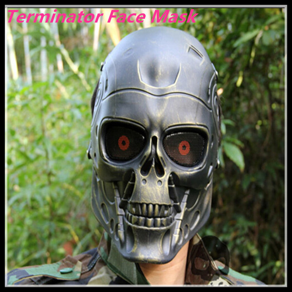 Halloween New Terminator masque Full Face Airsoft Mask Survie CS Wargame Field jeu Cosplay Terminator Film masque armée militaire