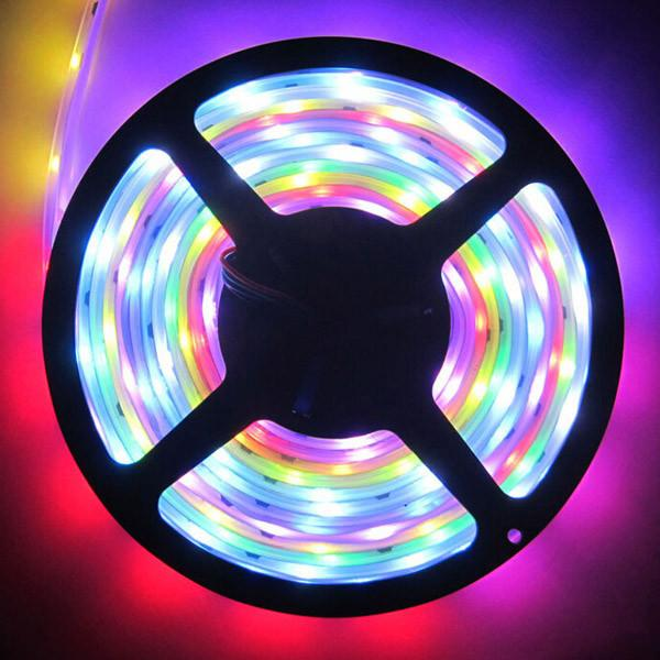 Magic LED Strip Dream Color 6803 IC 5050 RGB SMD Light 150 LEDs 5M waterproof 133 Colors Program With Controller 2015 New Arrival By DHL