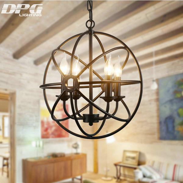 Vintage LED Iron pendant lights fixture Hanging lamp with E14 110v 220v for Dinning Room living room bedroom