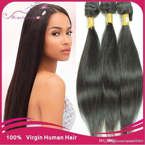 15A unprocessed virgin maylasian hair straight 15pcs lot no shed ...