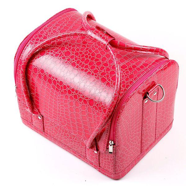 Kosmetische Fall-Make-upzug-Kasten 1pcs / lot 5 Farben-Taschen-Frauen-rosa Einkaufstasche bilden den Organisator Multifunktions