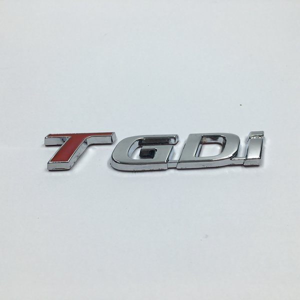 Metal TGDI Emblem Car Rear Trunk Lid Emblem Badge Sticker For Kia For Hyundai T Gdi Logo