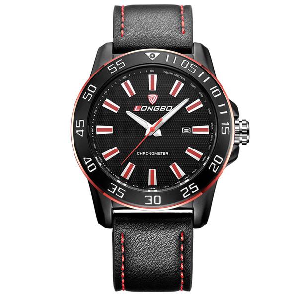 LONGBO Brand New Man Fashion Collocation Quartz Wrist Watch Auto Date Complete Calendar Water Resistant Sports Watch Free Shipping