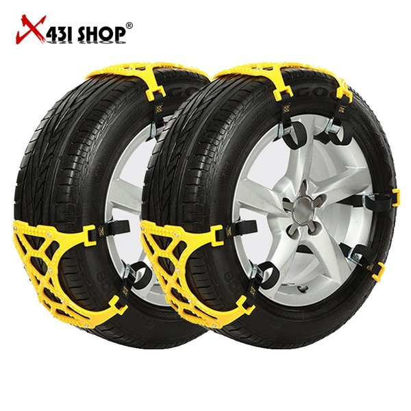 Brand New Snow Chains Car Tire Skid Chain 6pcs/Lot 165mm~265mm Universal Adjustable Auto Car SUV Anti Wheel Slip Chain