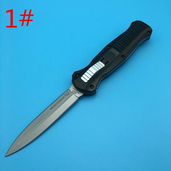 Ten Styles Benchmade 3300 3310 3310BK Infidel D2 Speer / Abwurfpunkt Doppelklinge Glatte Aktion Campingmesser Außenwerkzeug Werkzeug Messer