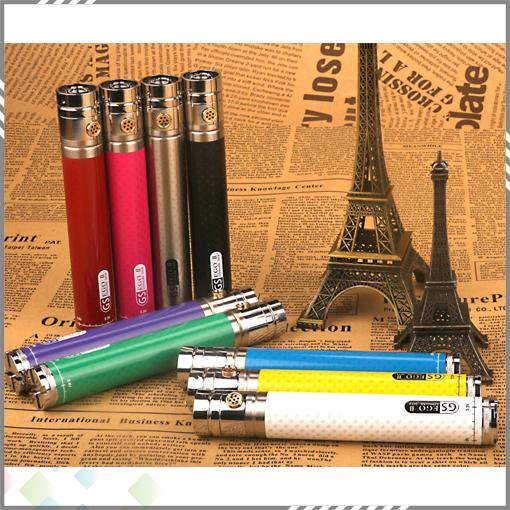 Newest Twist Battery GS EGO II Twist 2200mah Battery 510 Thread With 9 Colors Carbon Fibre Prining 3.3v - 4.8v Variable Voltage Battery