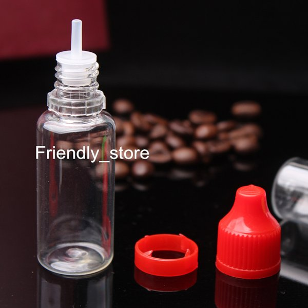 15ml Juice Bottles Wholesale Drop Bottles With Tamper Evident Childproof Cap And Long Thin Tip, 15ml Clear Liquid Bottles