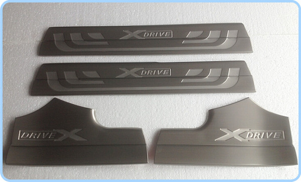 Free shipping! High quality stainless steel 4pcs inner door sills footplate,Door Sill Scuff Plate, threshold protection bar for BMW X3
